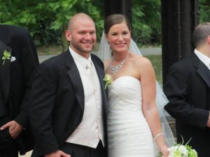 Heather and John at Phoenixville Foundry by J. Scott Catering on TLC's Say Yes to the Dress