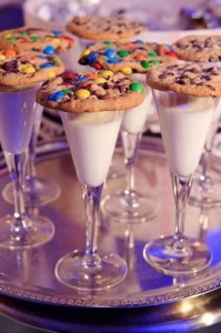 Milk topped with Cookies