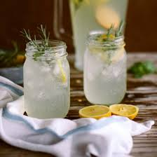 Vanilla Rosemary Lemonade in Mason Jars