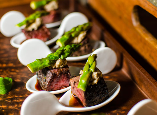 Beef & asparagus appetizers