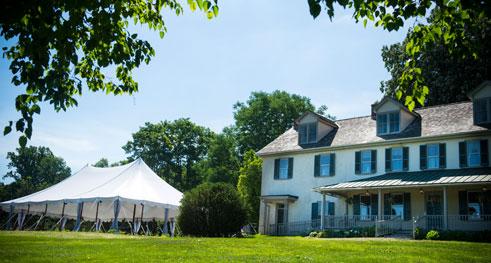 Wedding reception on the grounds of Springton Manor Farm