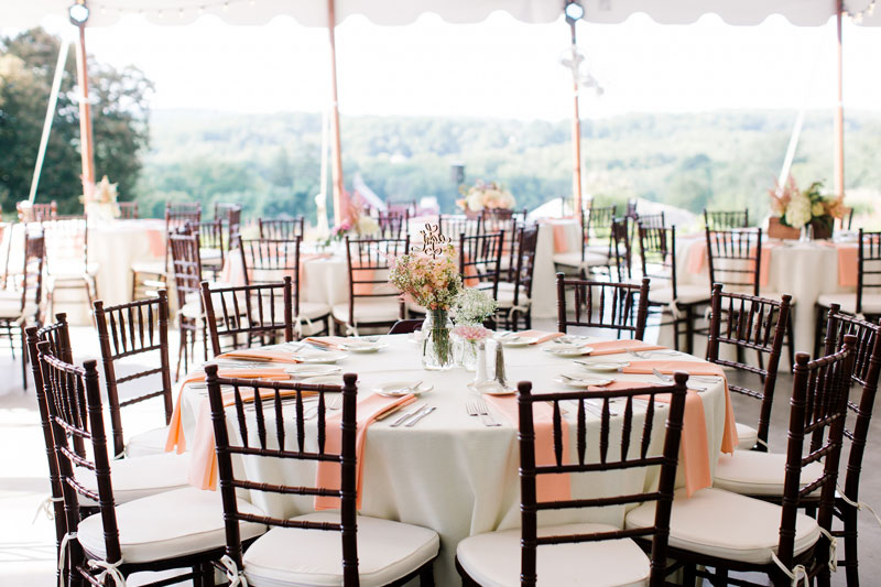 table setting at a tented wedding reception by j. scott catering & Farm-to-table Philadelphia Catering | J. Scott Caterers \u2013 Just ...