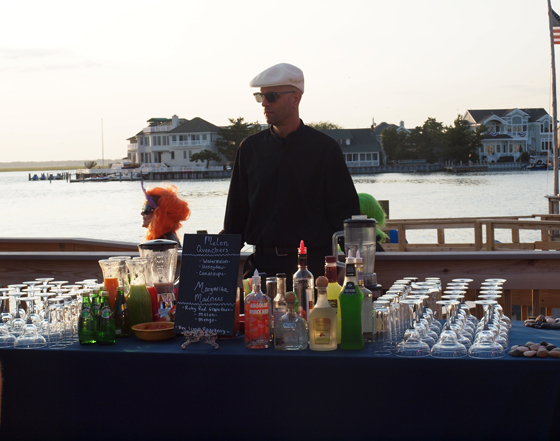 bartender along the water