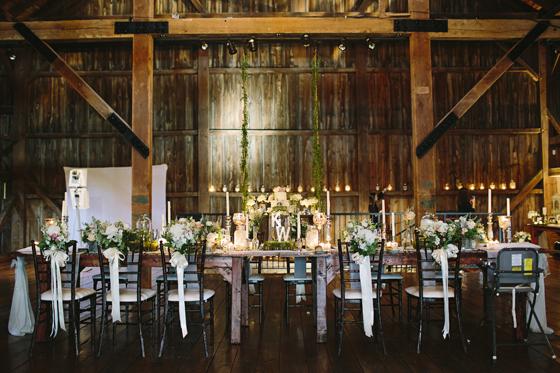 rustic barn wedding table setting