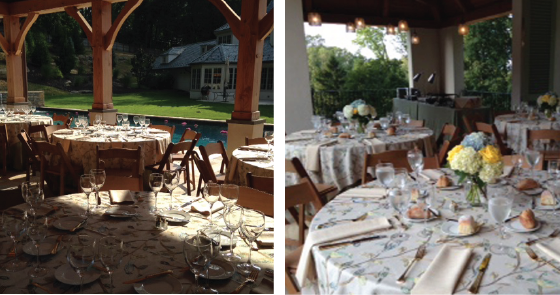 table settings outdoor private event