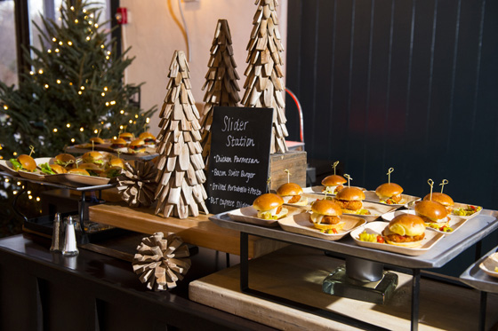 Holiday Party Slider Station