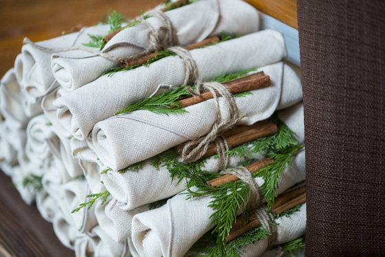 Winter Décor for our Cozy Corporate Holiday Party Napkins
