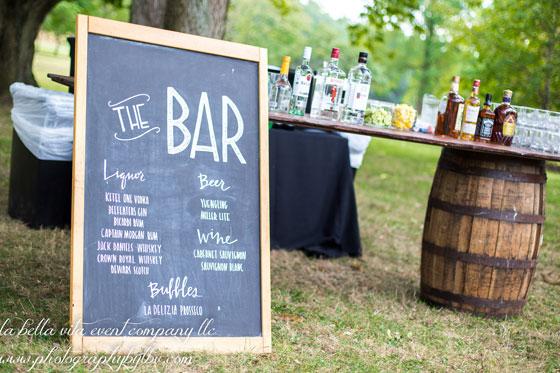 Chalk Board Bar Sign