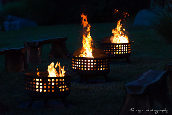 Firepits at Wedding