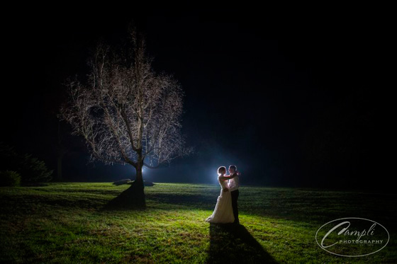 Dynamic Lighting at Springton Manor Farm Wedding