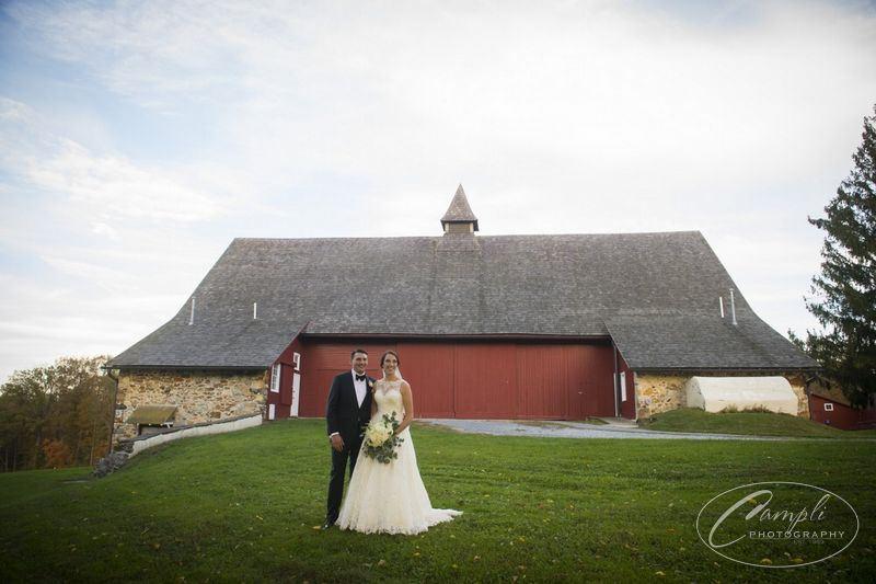 The Sweeneys' Fall Wedding Reception at Springton Manor Farm