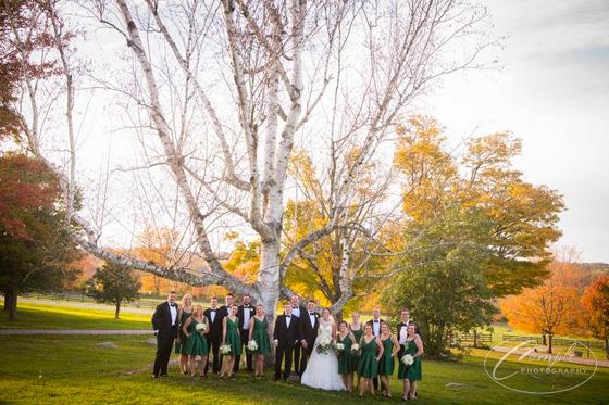 Sweeneys' Fall Wedding Reception at Springton Manor Farm