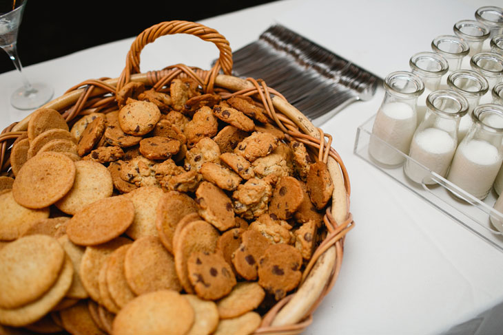 Milk and Cookies Late Night Wedding Snack