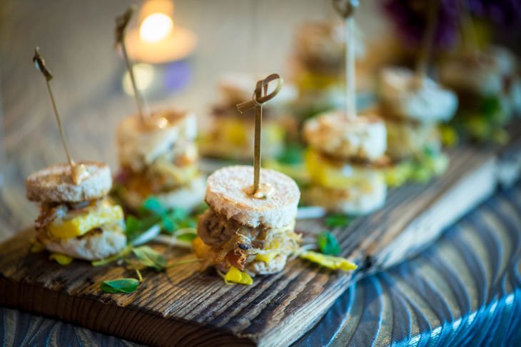 Wedding Passed Appetizers at Bridal Show