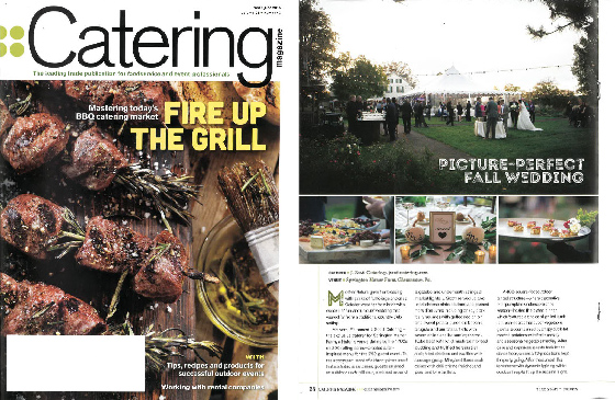 Newsflash: One of Our Fall Wedding Menus Made Catering Magazine!