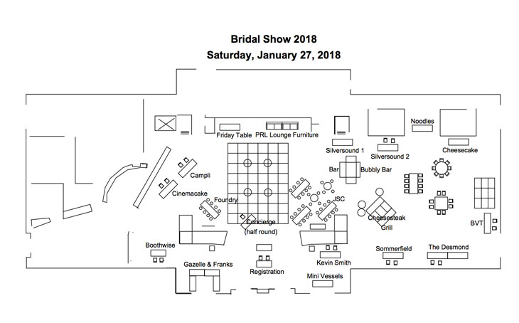 Bridal Show Layout