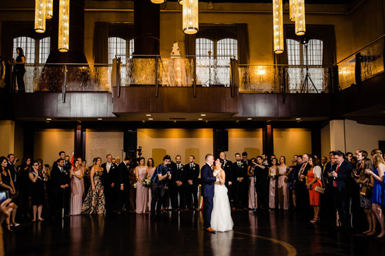 First Dance at a Wedding at Phoenixville Foundry