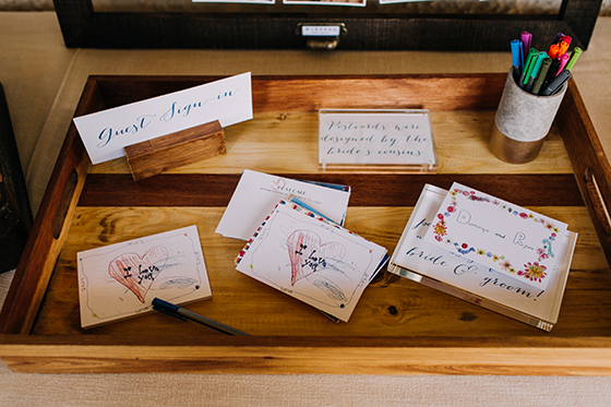wedding letters colorful