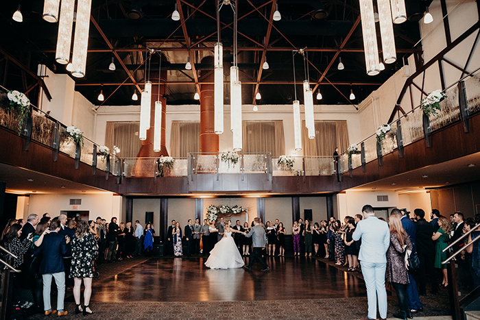 First Dance at Phoenixville Foundry Wedding Bride and Groom