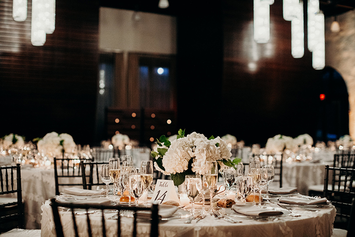 Beautifully Set Wedding Tables for Reception