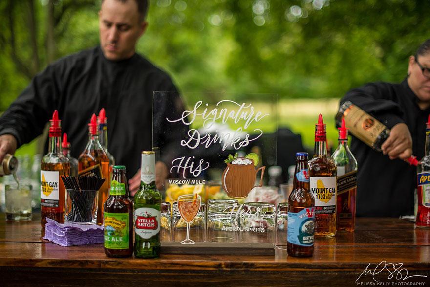 Bar and Signature Drink at Springton Wedding