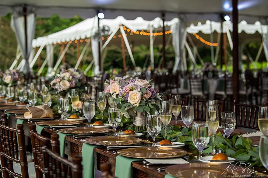 Elegant Place Settings at Springton Manor Farm Wedding
