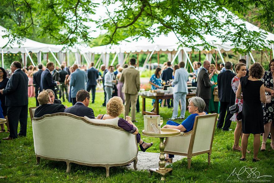 Cocktail Hour on Lawn of Springton Manor Farm