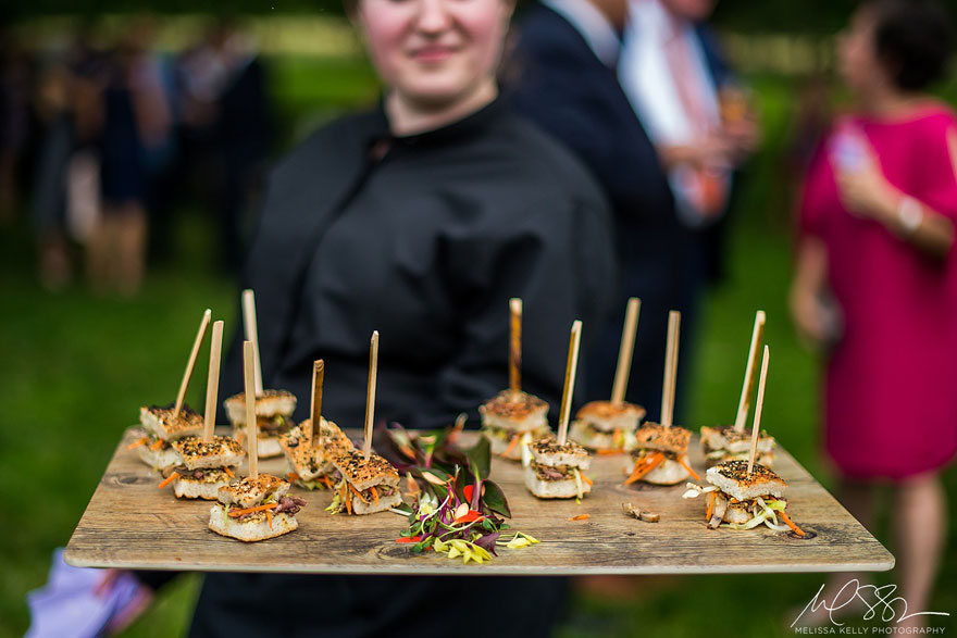 Passed Hors d'Oeuvres at Springton Manor Farm Wedding