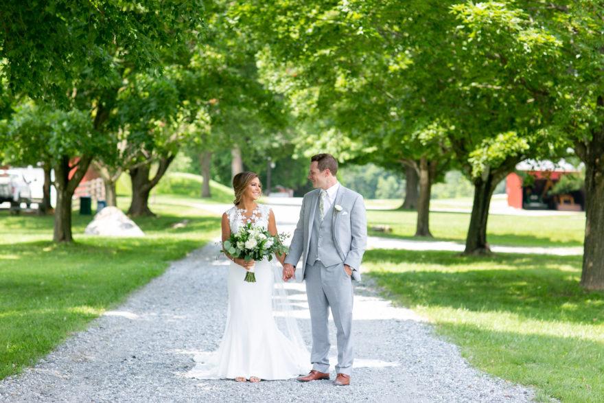 Bride and Groom at Springton Manor Farm