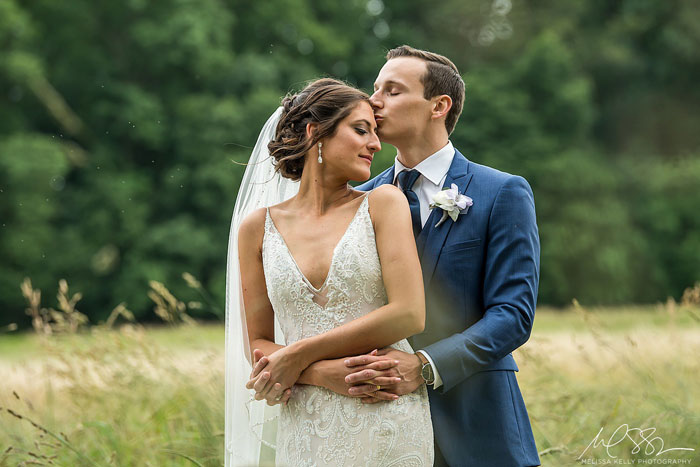 Bride and Groom at Springton Manor Farm