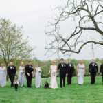 bridal party at radnor hunt
