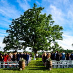 wedding ceremony at radnor hunt