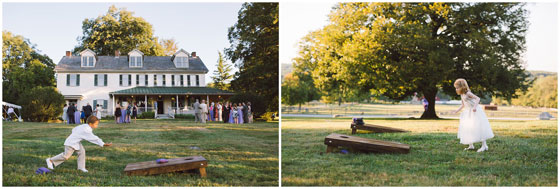 Lawn Games at Outdoor Wedding