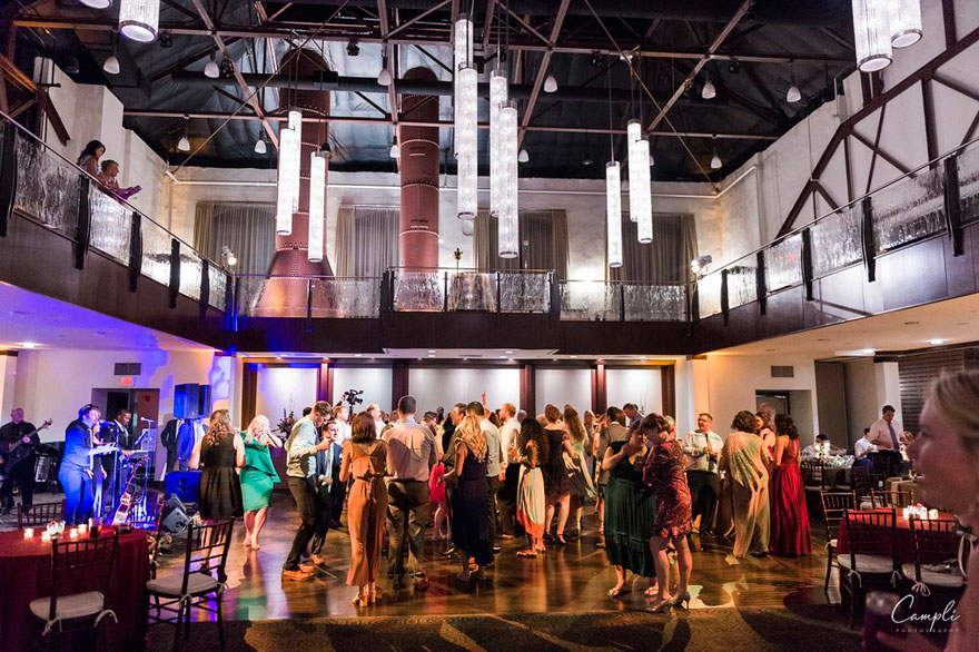 Guests Dancing at Phoenixville Foundry Wedding
