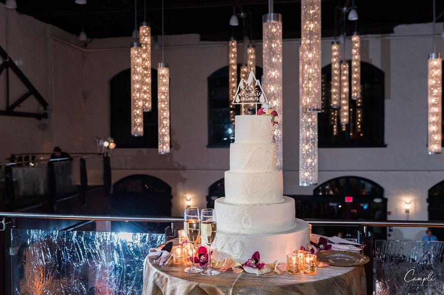 Wedding Cake at Philadelphia Wedding