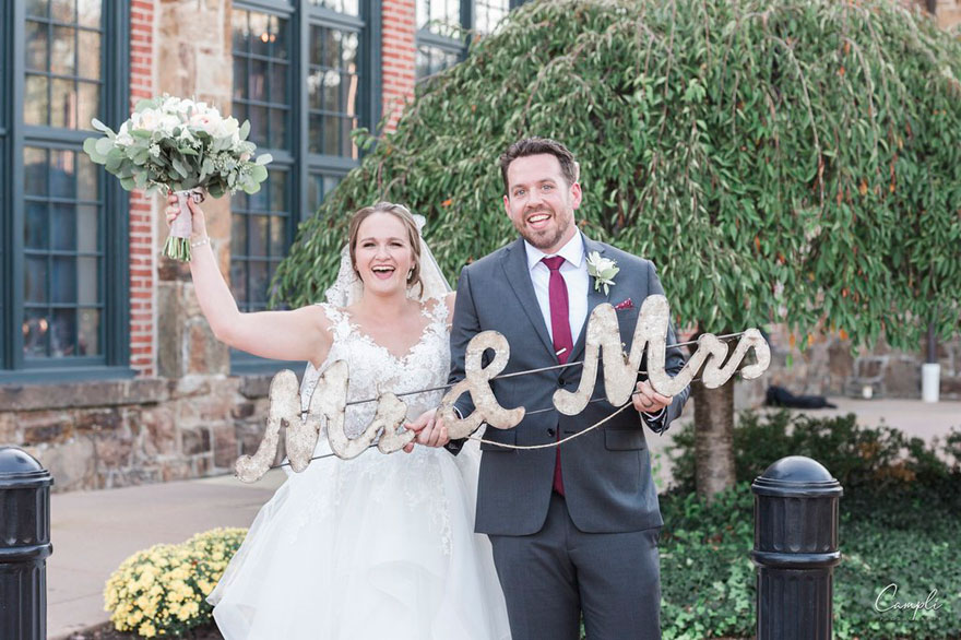 Caroline and Bob's Adventure-Themed Wedding at The Phoenixville Foundry