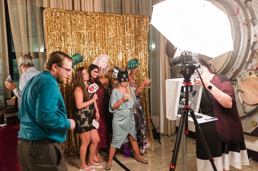 Photobooth at Wedding Reception