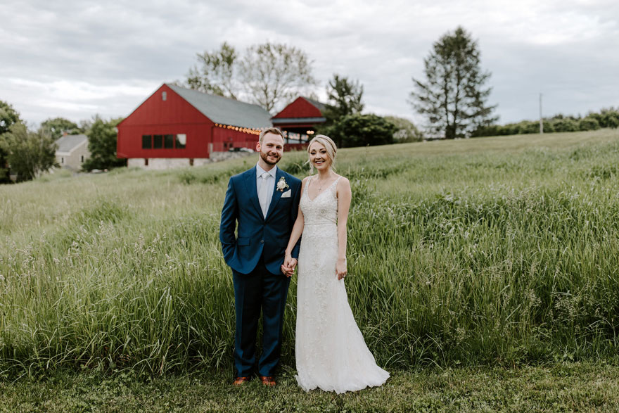 Bride and Groom at The Farm of Eagles Ridge