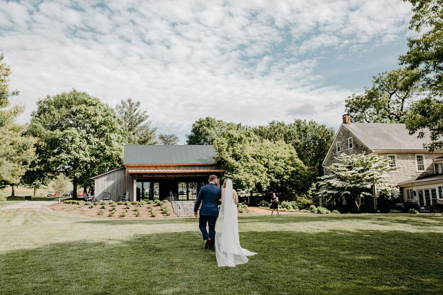 Bride and Groom at The Farm at Eagles Ridge