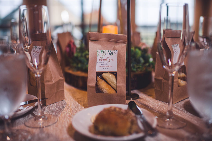 Fall Wedding Table Settings and Favor at Radnor Hunt
