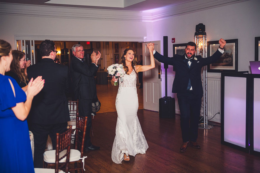 Bride and Groom at Radnor Hunt Fall Wedding