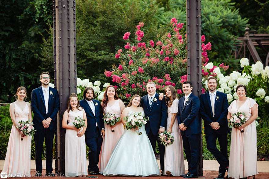 Bridal Party at Wedding at The Phoenixville Foundry