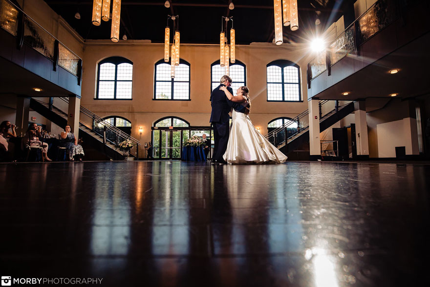 Bride and Groom First Dance at Wedding at The Phoenixville Foundry