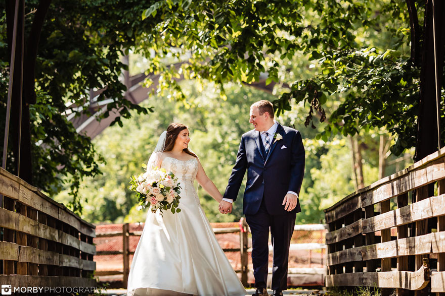 Bride and Groom at Wedding at The Phoenixville Foundry